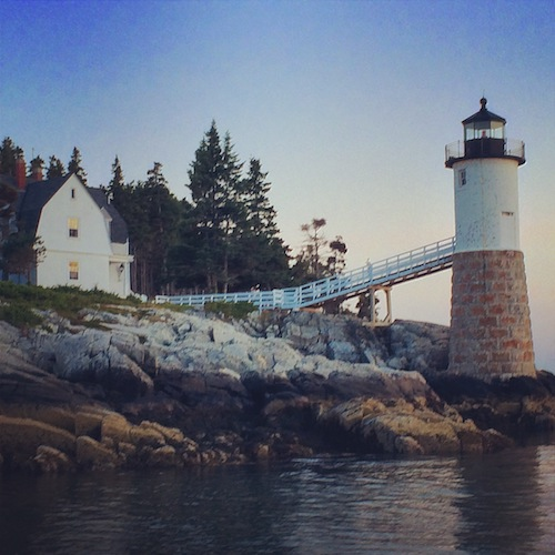 The Keeper's House Inn | Isle au Haut, Maine: Lighthouse at Dusk