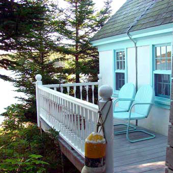 The Keeper's House Inn | Isle au Haut, Maine: The Oil House porch